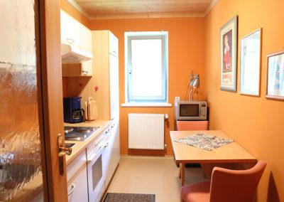 Küche in der kleinen Ferienwohnung