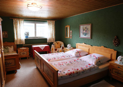 Schlafzimmer in der Ferienwohnung